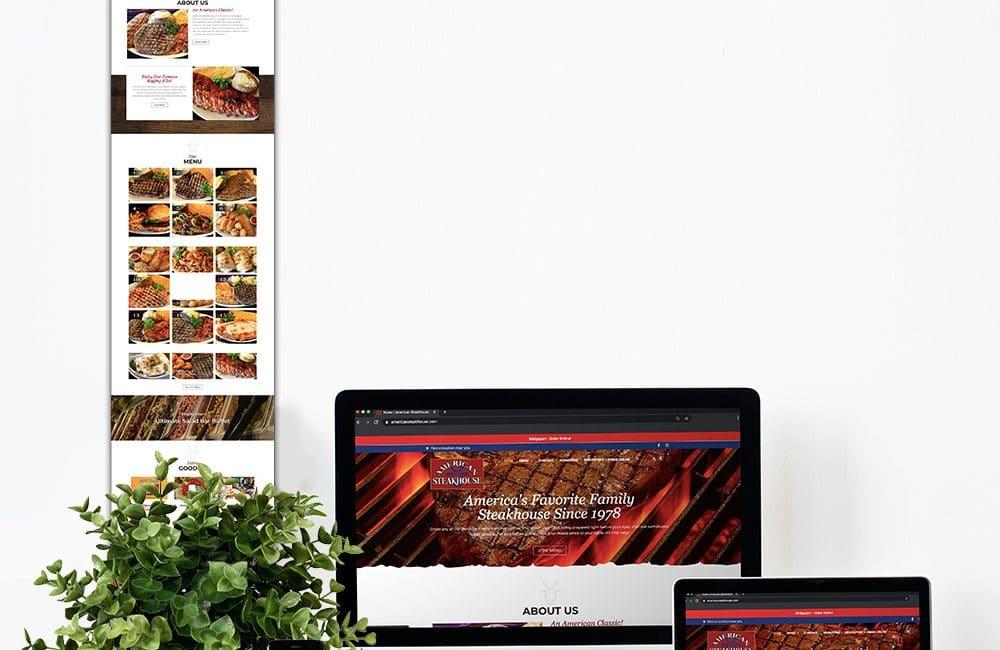American Steakhouse HOMEPAGE Portfolio