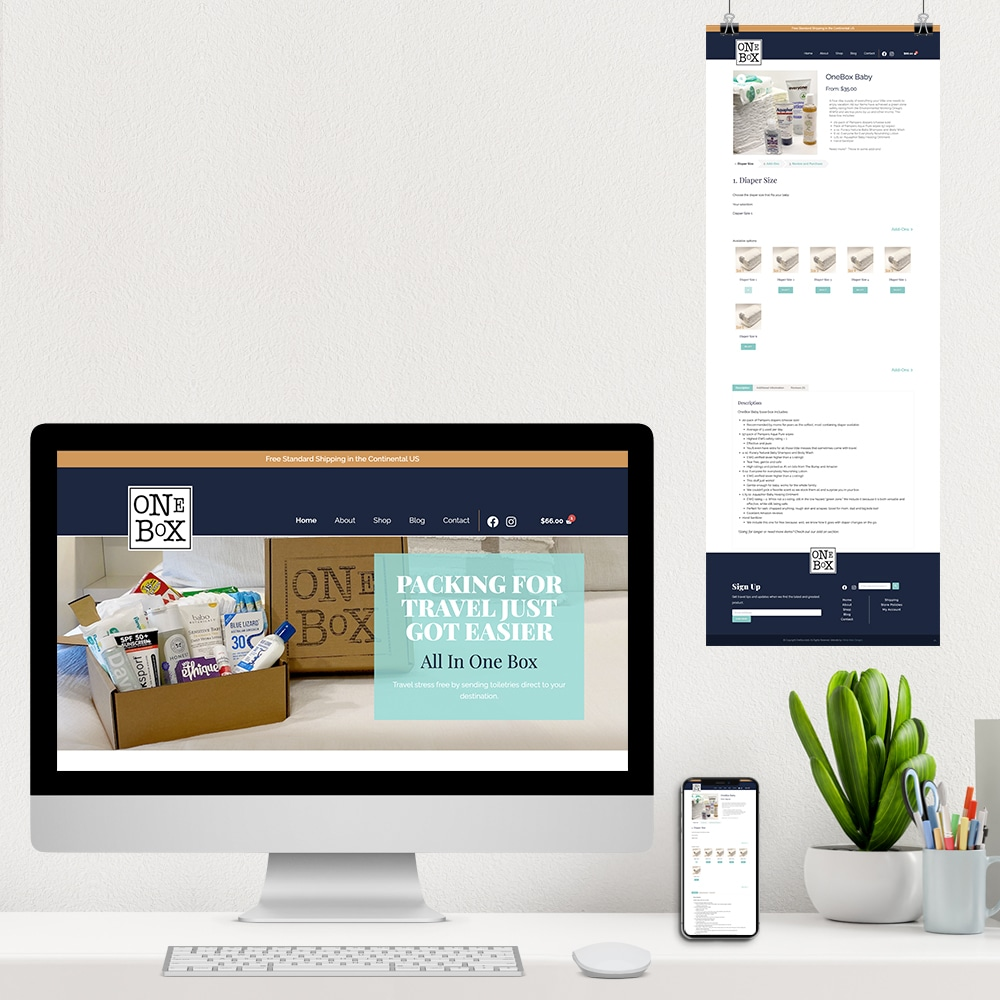 One Box Travel Homepage