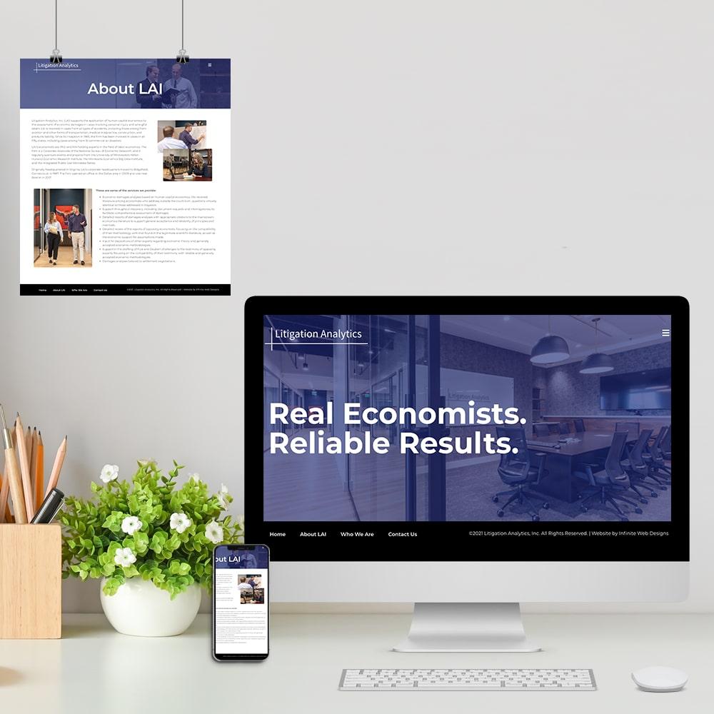 Web Design for Economics Consulting Firm