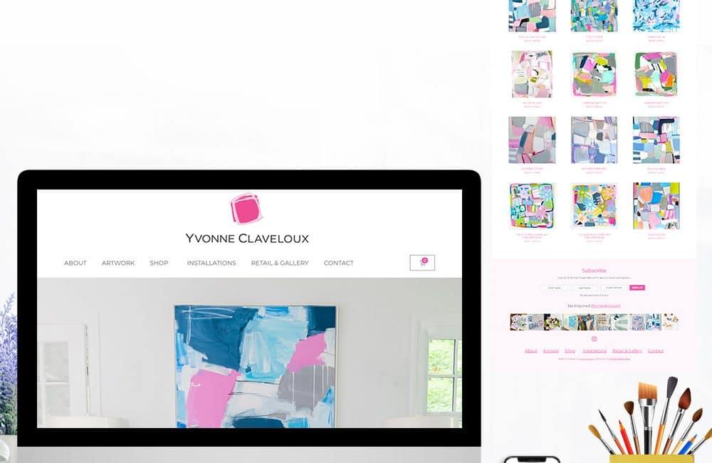 Yvonne Claveloux Art Ecommerce Website